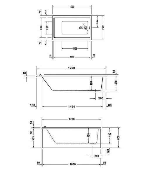 Technical drawing 50500 / 760334000JS1000