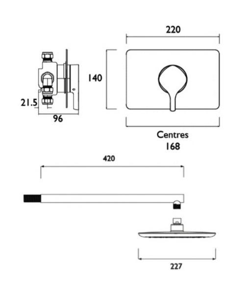 Technical drawing 51244 / FLT SQSHCFH C