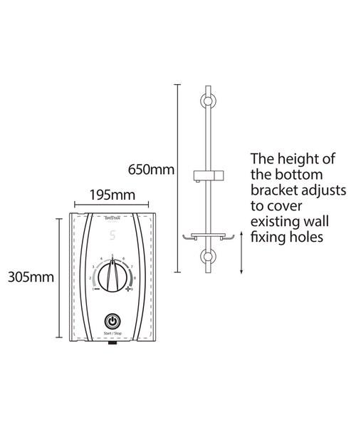 Technical drawing 51293 / JOYTHC85 W