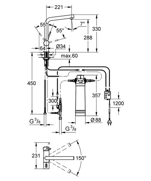 Technical drawing 51346 / 31345002