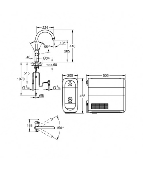 Technical drawing 51354 / 31455DC0