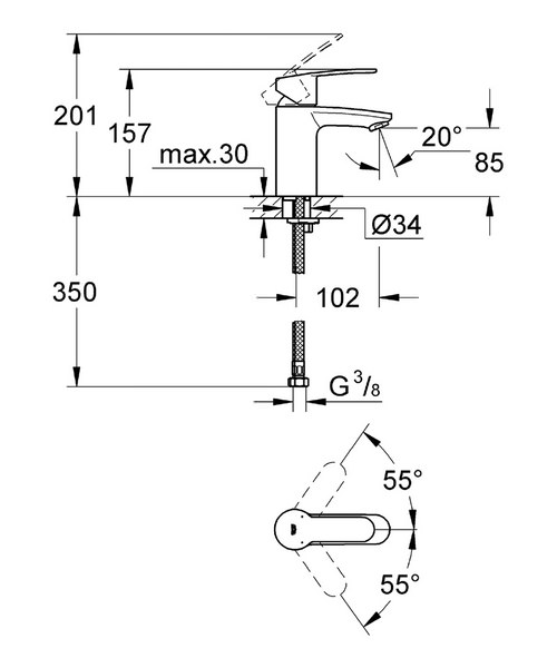 Technical drawing 5968 / 3246820L