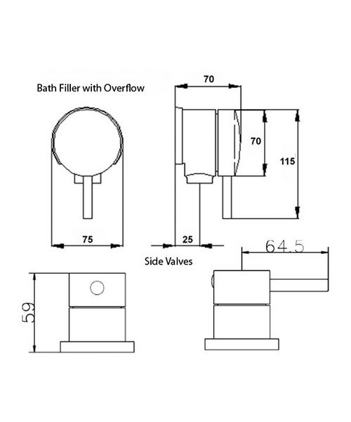 Technical drawing 6021 / QUE308