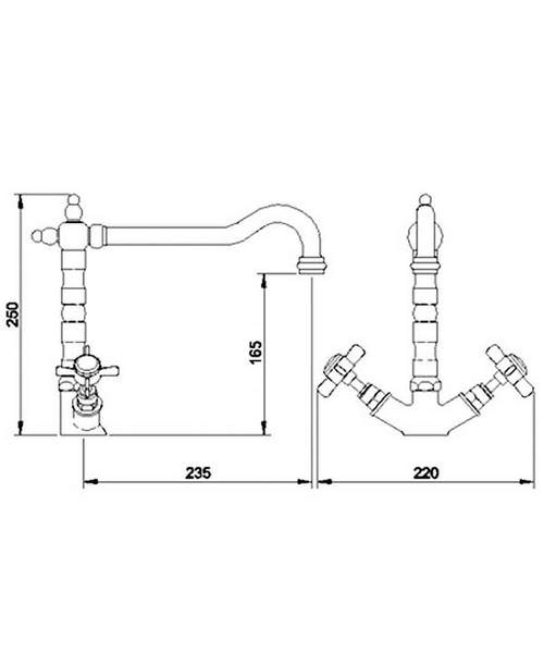 Technical drawing 6033 / KB305