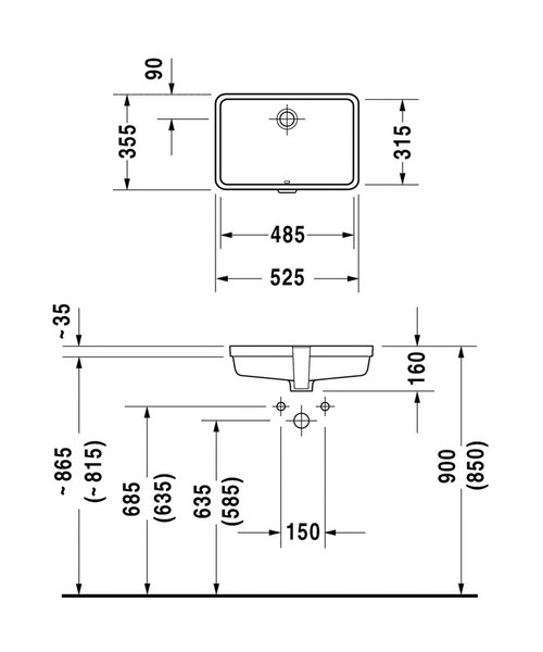 Technical drawing 6956 / 0330480000