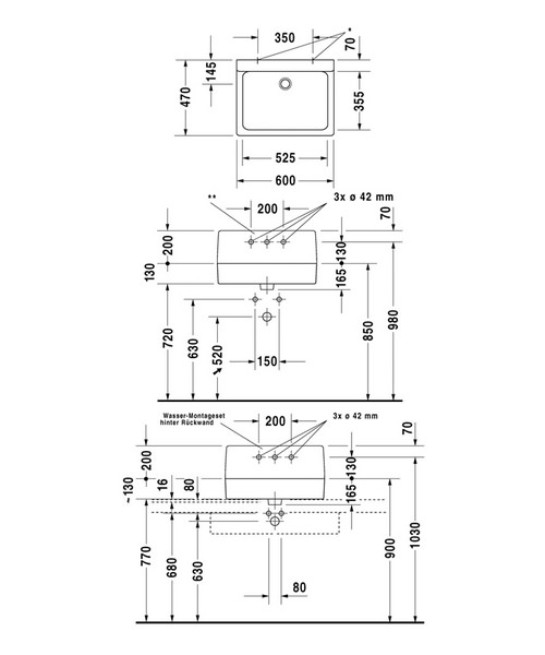 Technical drawing 6961 / 0453600025