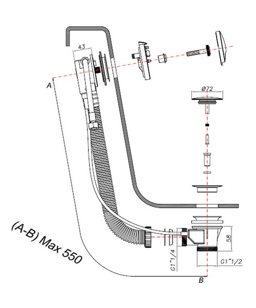 Technical drawing 7156 / BFW0158C