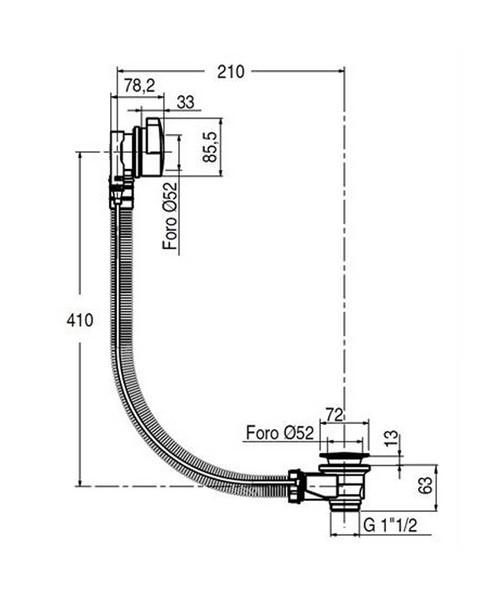 Technical drawing 7182 / BTW0245C