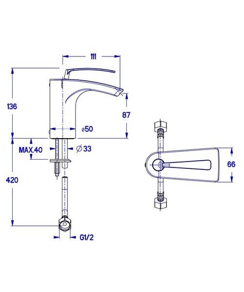 Technical drawing 7190 / ES110DNC