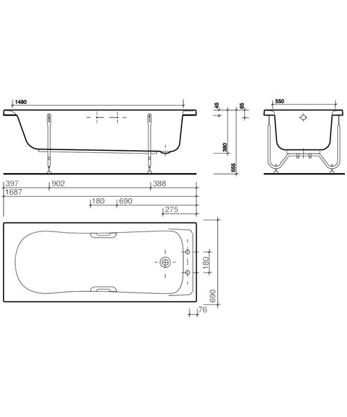 Technical drawing 7458 / GN8550WH
