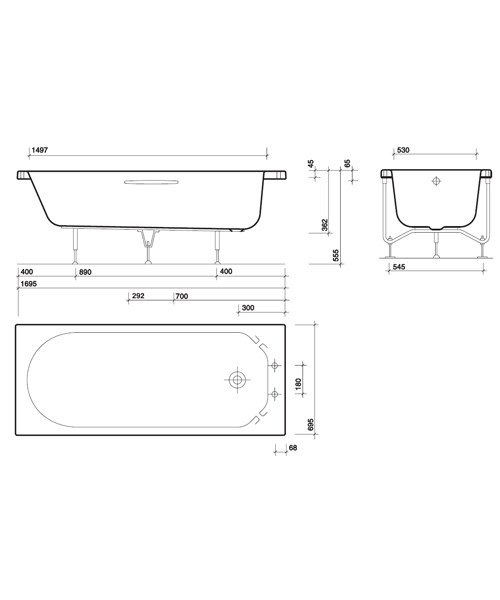 Technical drawing 7462 / OT8500WH