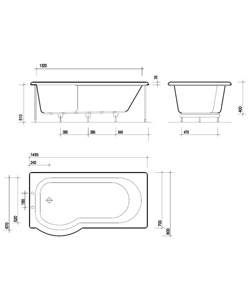Technical drawing 7471 / GP8910WH