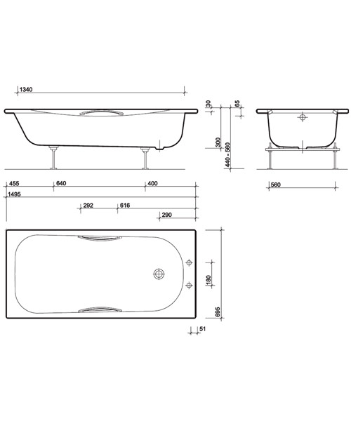 Technical drawing 7494 / SB1372WH