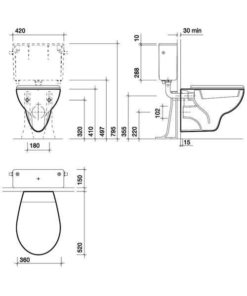 Technical drawing 7582 / AR1738WH