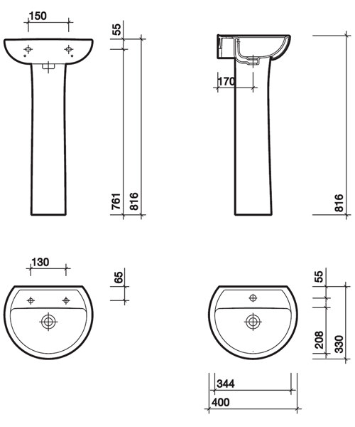 Technical drawing 7586 / AR4811WH