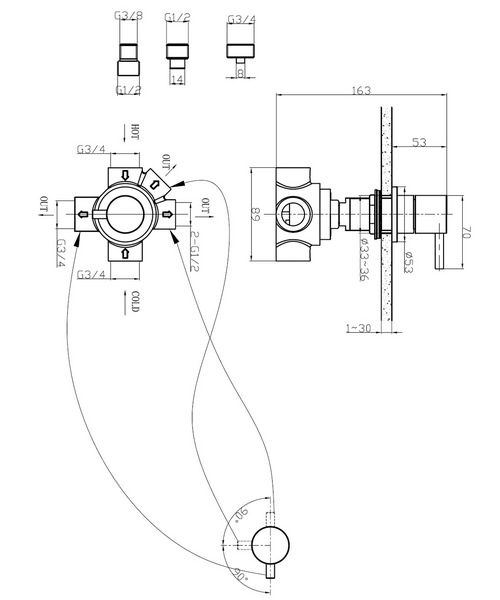 Technical drawing 8015 / KL0008DC
