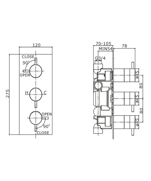 Technical drawing 8019 / KL2000RC