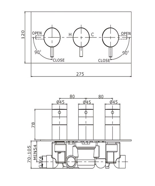 Technical drawing 8020 / KL2001RC