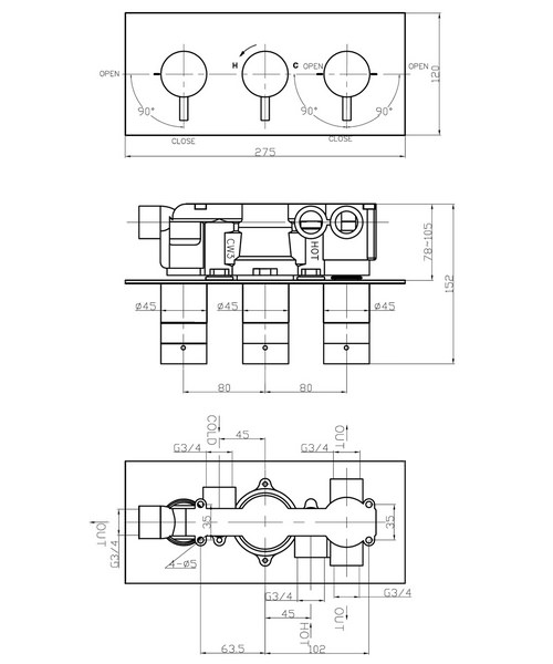 Technical drawing 8022 / KL3001RC