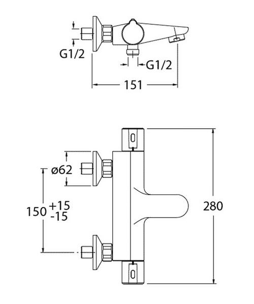 Technical drawing 8033 / EV1251EC