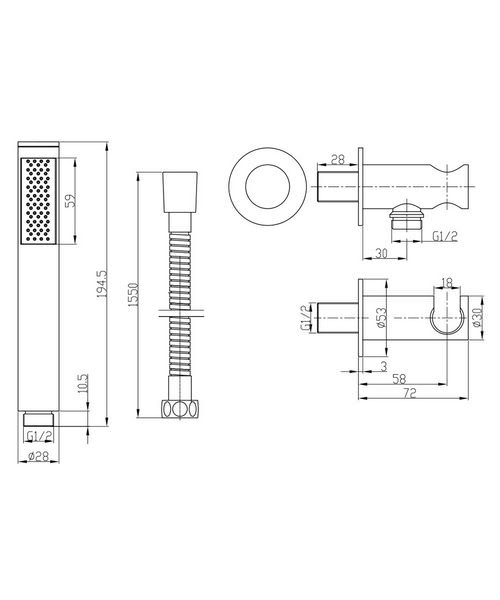 Technical drawing 8104 / SK963C