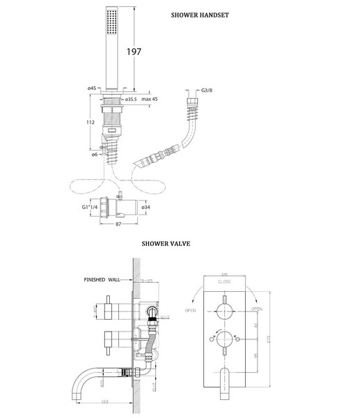 Technical drawing 8159 / KL1600RC