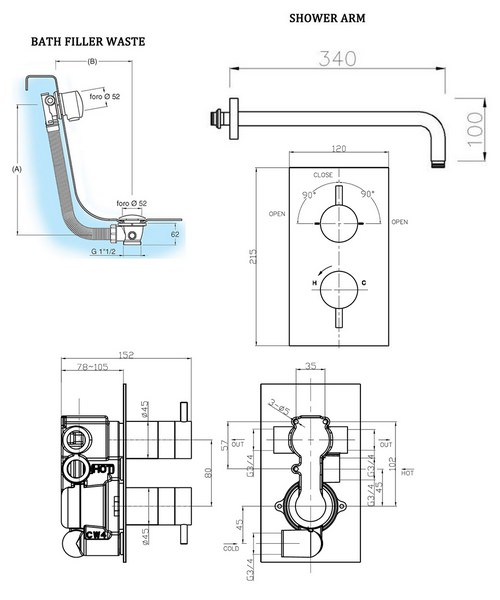 Technical drawing 8164 / KL1500RC