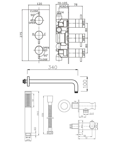 Technical drawing 8170 / KL2000RC