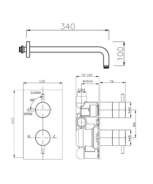 Technical drawing 8180 / KL1000RC