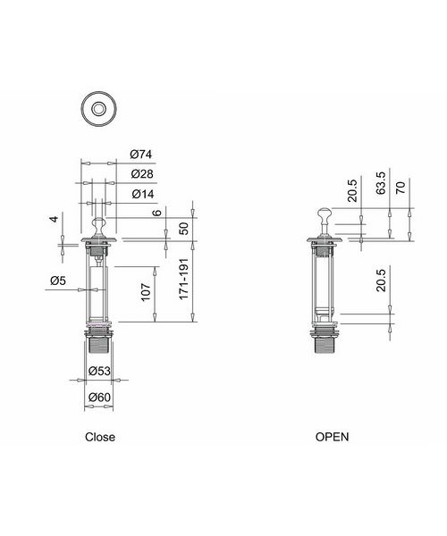 Technical drawing 8234 / W9