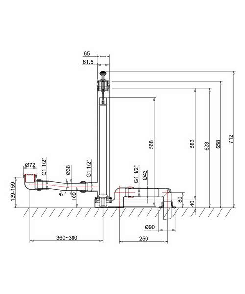 Technical drawing 8239 / W8