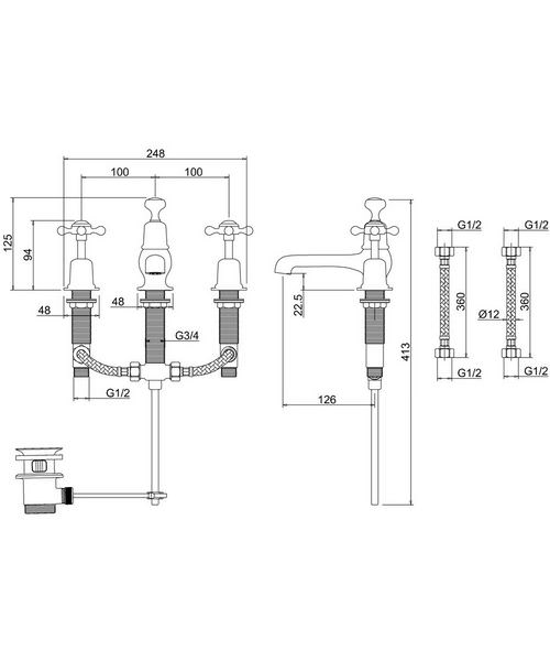 Technical drawing 8253 / CL12