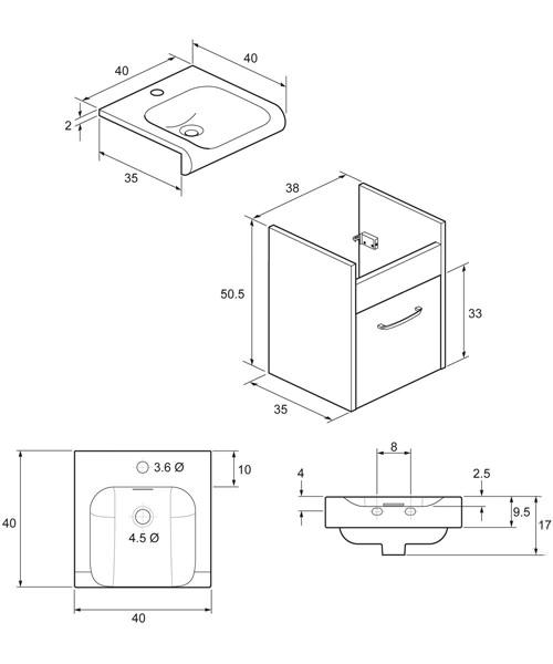 Technical drawing 8375 / ES4000DEB+