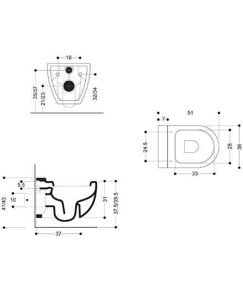 Technical drawing 8475 / RG6006CW
