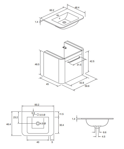 Technical drawing 8563 / CL6000DWG+