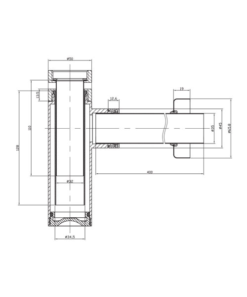 Technical drawing 8579 / BTR0402C