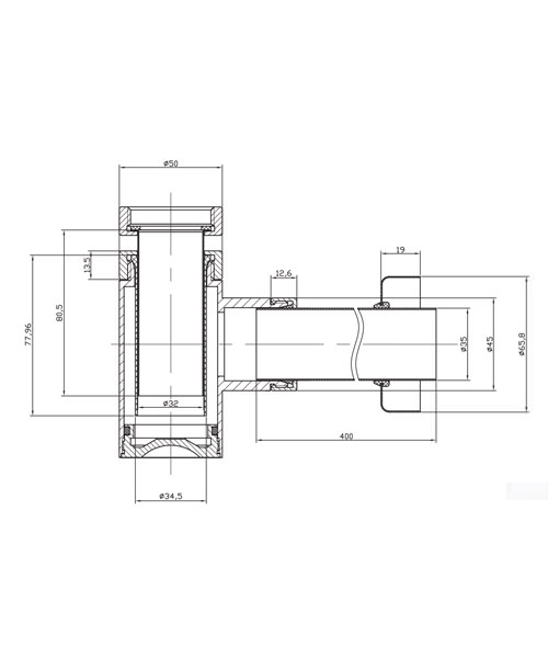 Technical drawing 8580 / BTR0404C