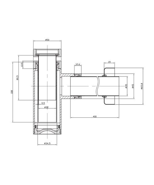 Technical drawing 8581 / BTR0405C