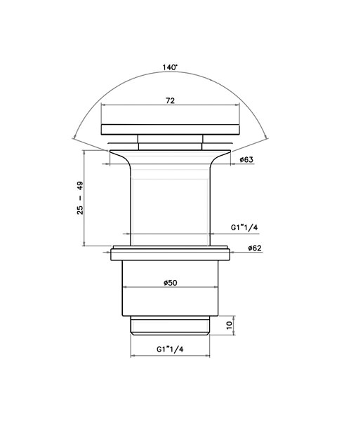 Technical drawing 8583 / BSW0151C