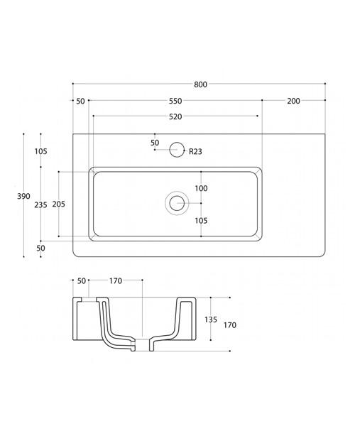 Technical drawing 8620 / WM0137SCW