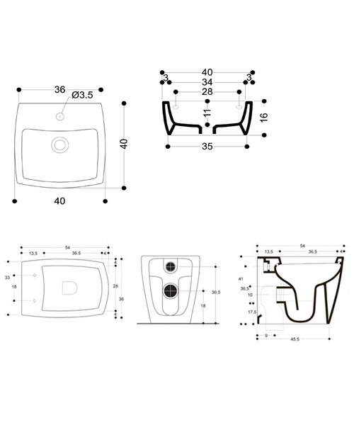 Technical drawing 8647 / ED0004SCW