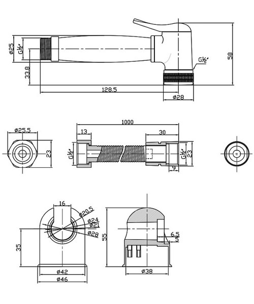 Technical drawing 9354 / SH935C
