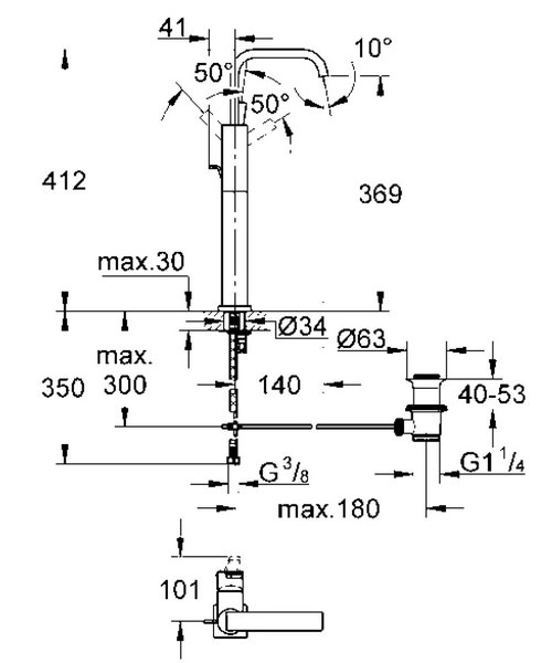 Technical drawing 9458 / 32249000