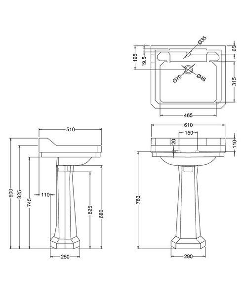 Technical drawing 9614 / B51TH