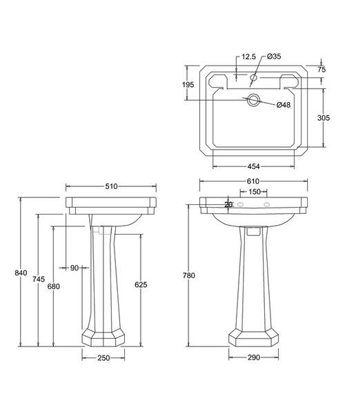 Technical drawing 9622 / B31TH