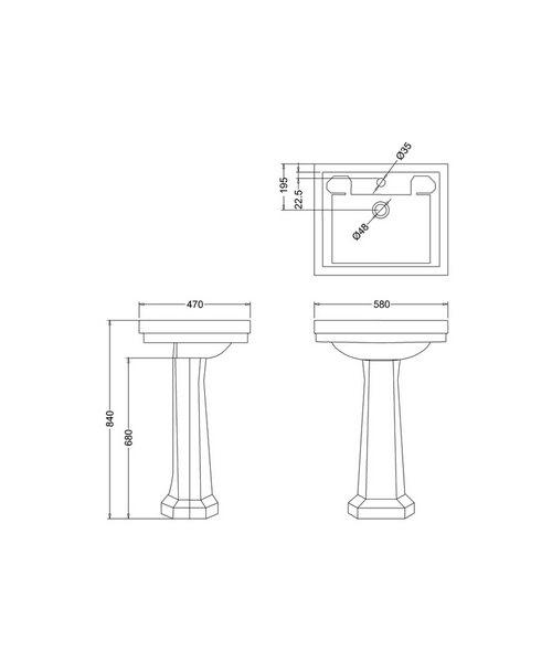 Technical drawing 9625 / B11TH