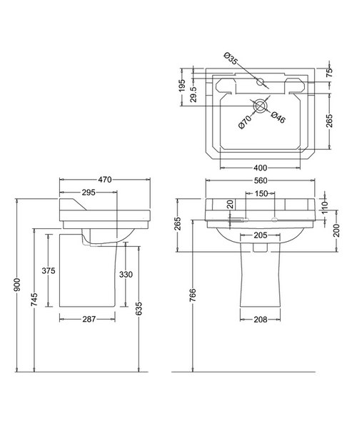 Technical drawing 9629 / B41TH