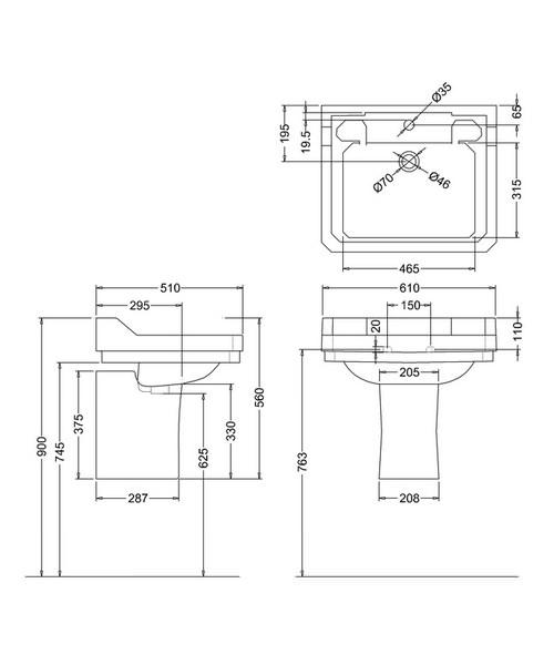 Technical drawing 9630 / B51TH