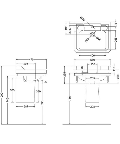 Technical drawing 9631 / B41TH