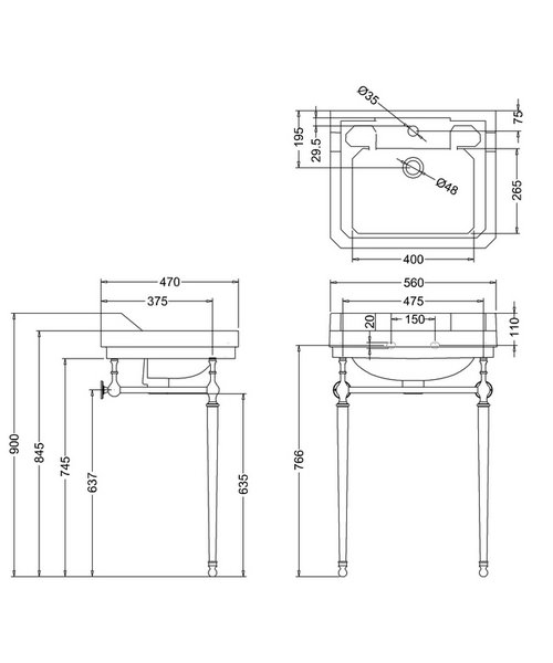 Technical drawing 9633 / B41TH